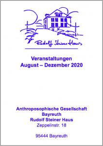 Veranstaltungen August – Dezember 2020